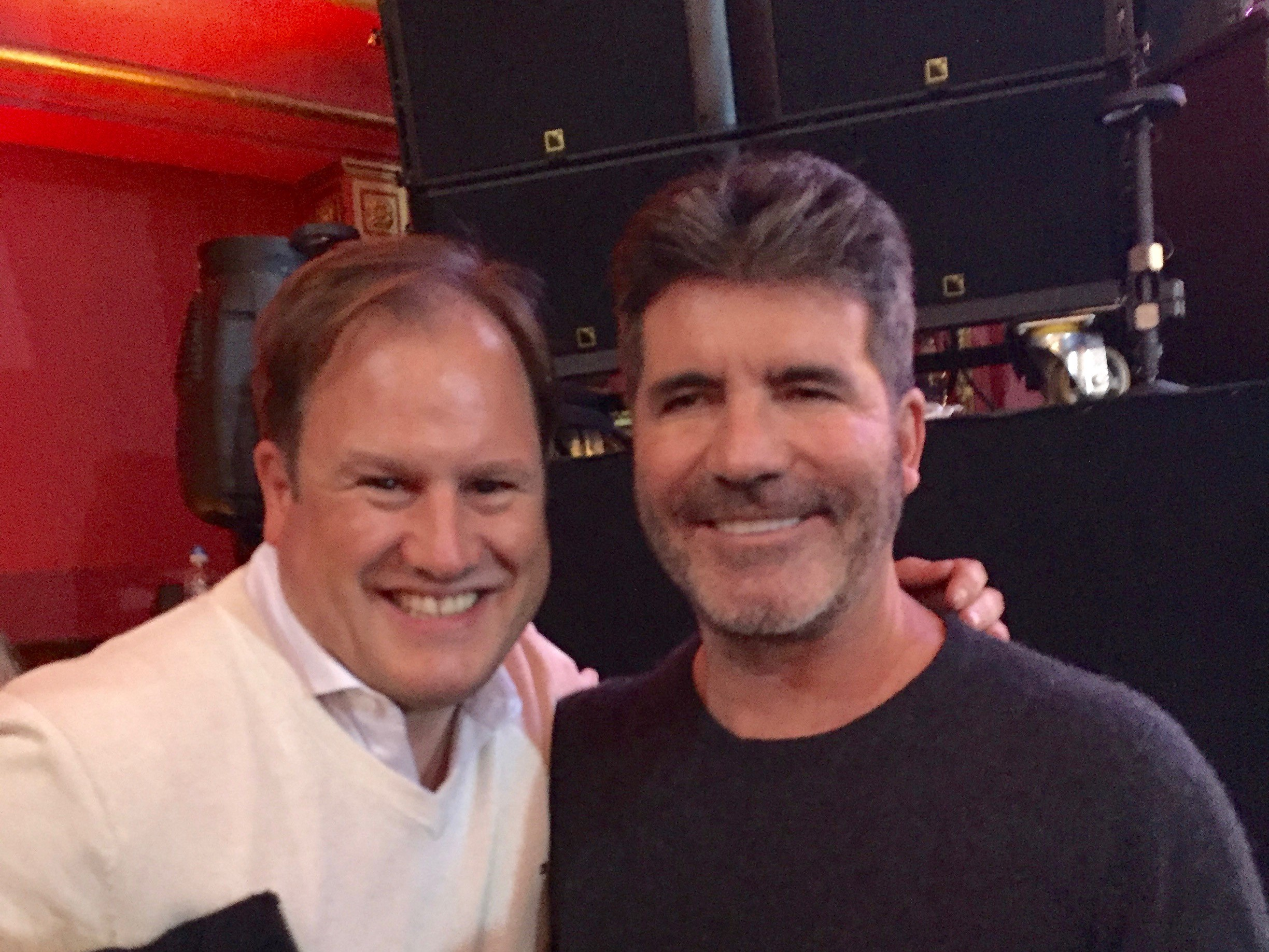 With Simon Cowell in London